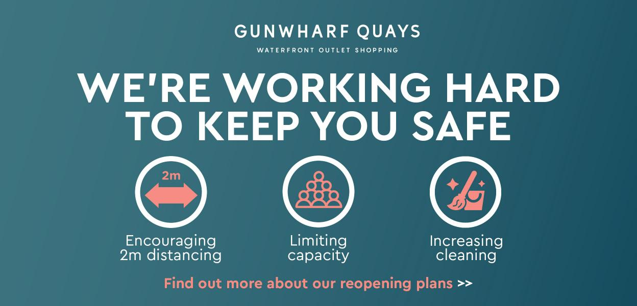 Gunwharf Quays social distancing reopening