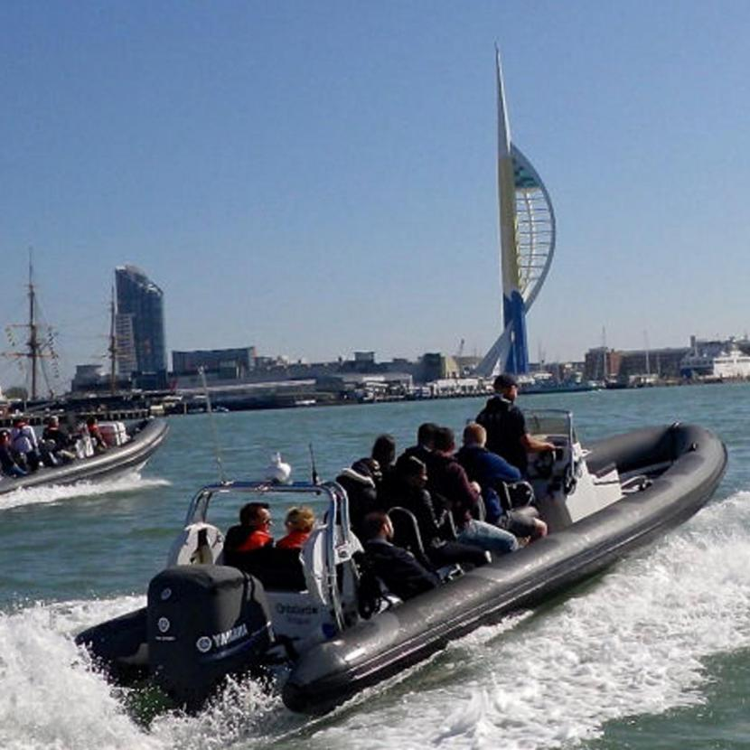 ONBOARD RIB & Powerboat Rides from Gunwharf Quays
