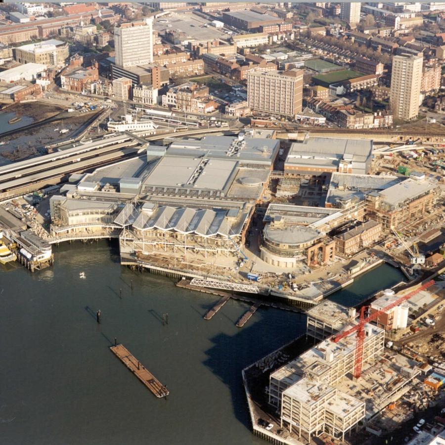 Gunwharf Quays January 2001