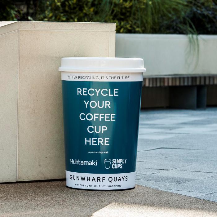 Gunwharf Quays Coffee Cup Recycling