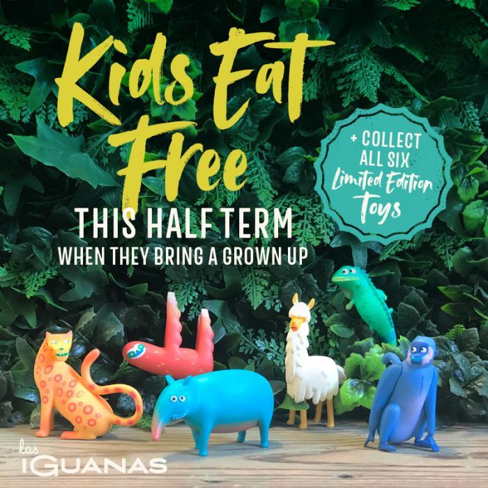 Children Eat Free this Half Term at Las Iguanas