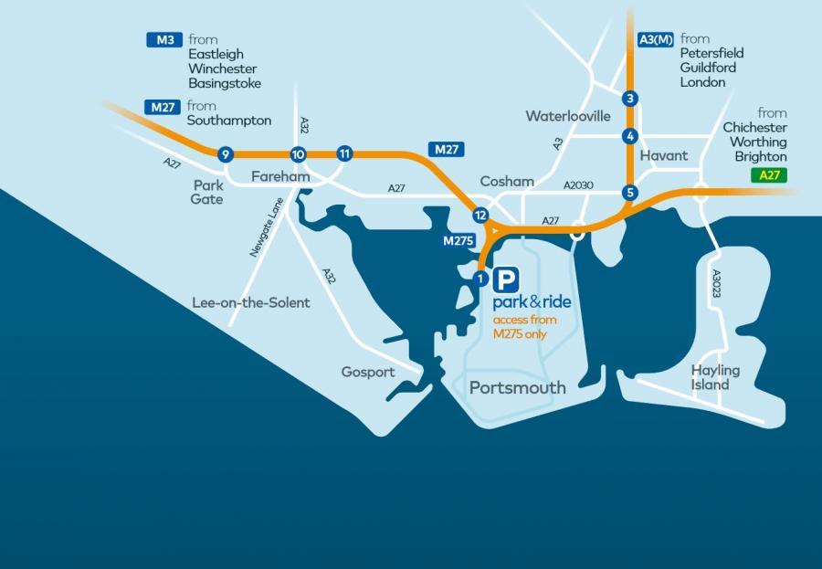Park & Ride Portsmouth direct to Gunwharf Quays