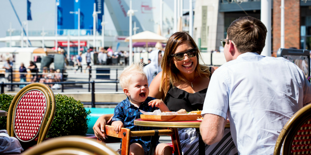 Family dining at Gunwharf Quays