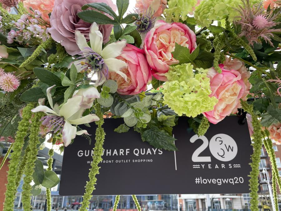 Floral Arch Celebrating 20 Years