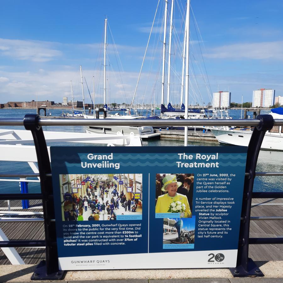 History Panels Gunwharf Quays