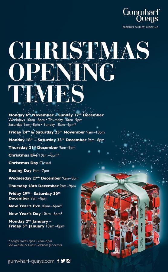 Christmas Opening Hours | Late Night Christmas Shopping | Christmas Shopping | Gunwharf Quays